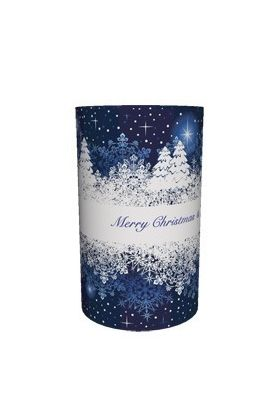 Candlecover Blue Christmas CC-76