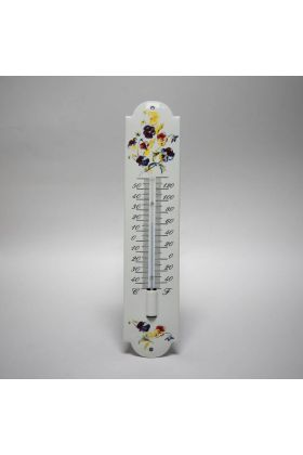 Emaille thermometer Viooltjes